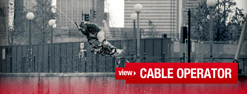 Cable Operator - wakeboarder in the Docklands London